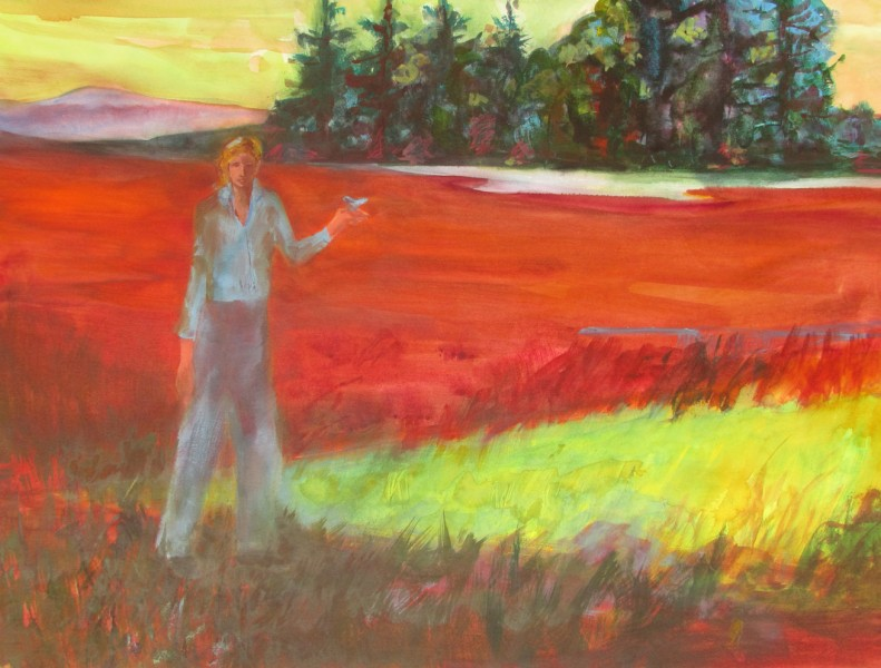 """""""Silent Marsh"""" copyright Ruth Armitage 2011 Watercolor on Paper 22x30"""""""