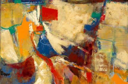 Artifact – Abstract Oil on Panel