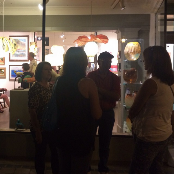 It was an evening to share art and community