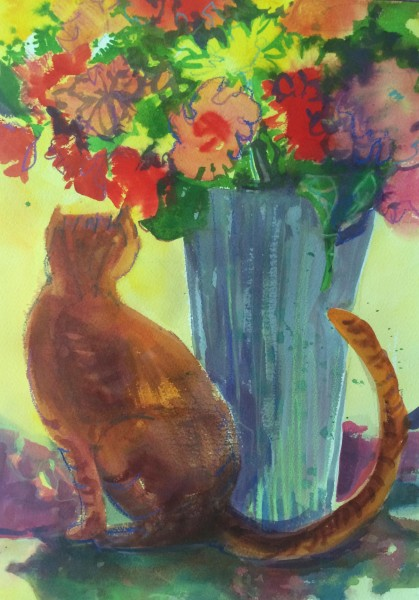 """I've Got Sunshine"" ©Ruth Armitage, Watercolor 14""x20"""