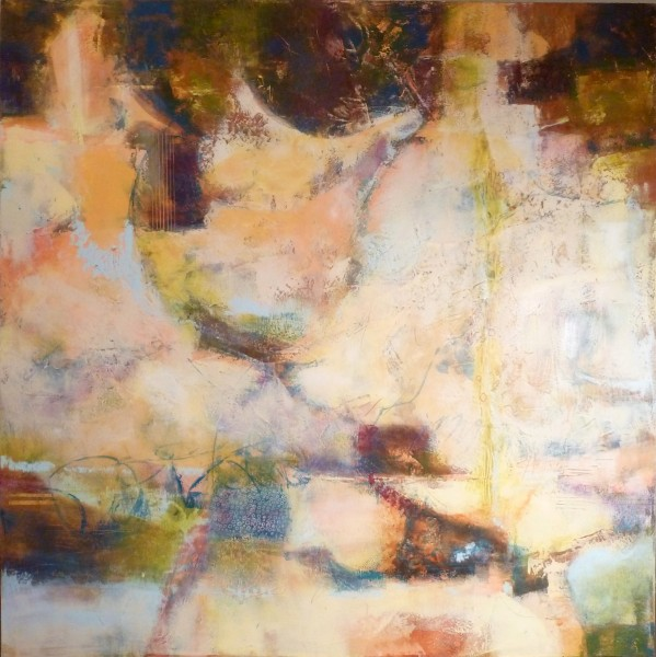 """""""Crossover"""" ©Ruth Armitage, 36""""x36"""" Oil & Wax on Panel $2500"""