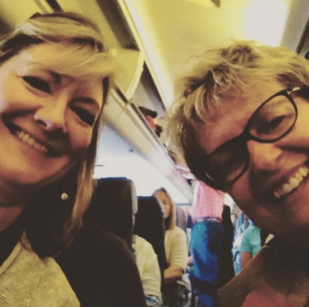 Joyce Baron & I on an Adventurous flight to Lubbock