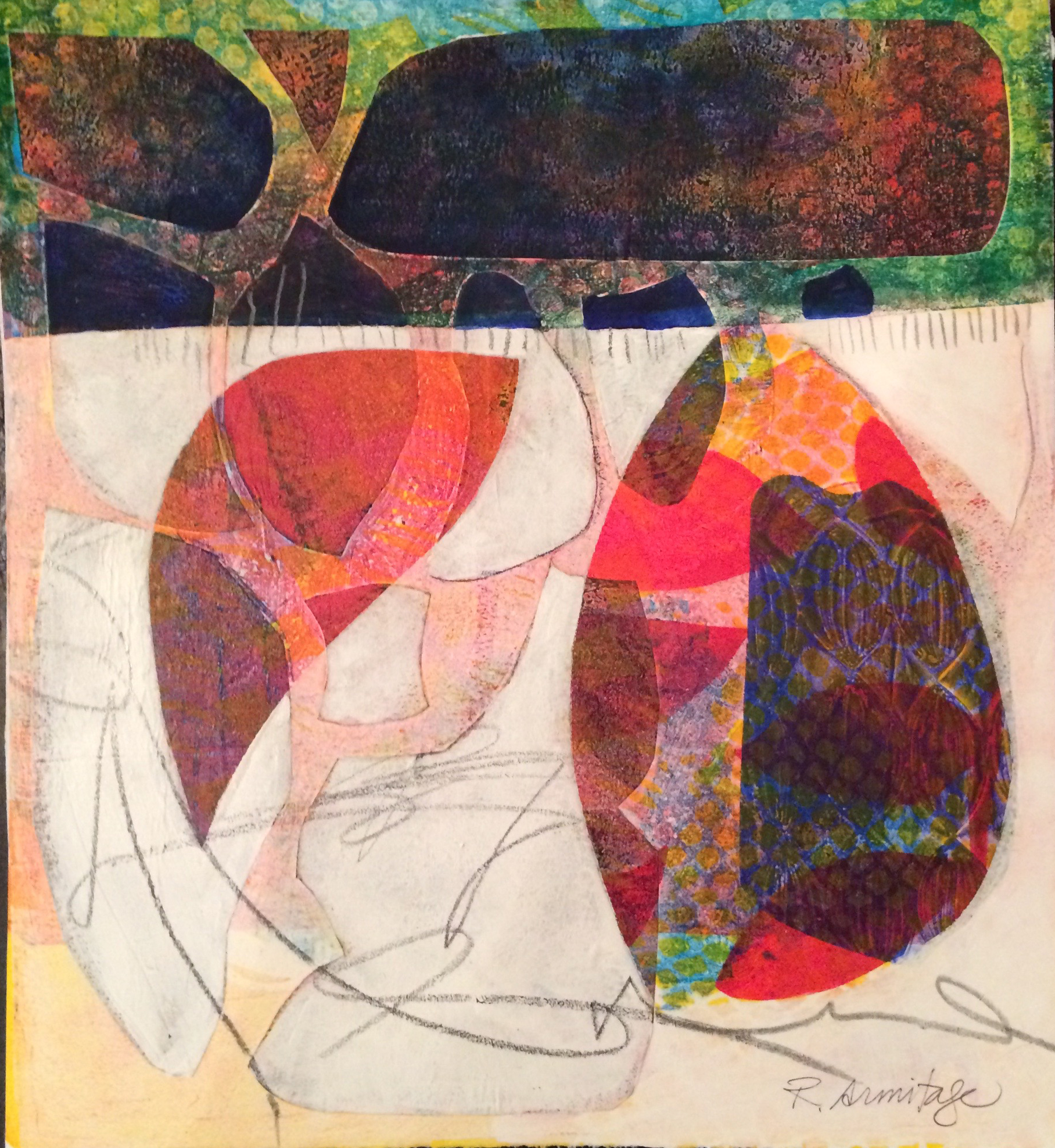 Monoprint Collage ©Ruth Armitage