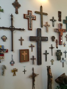 Salon Style Display of Crosses