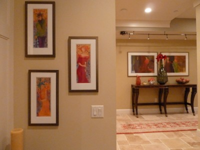 Salon Style Diplay of Some of my Figurative Paintings