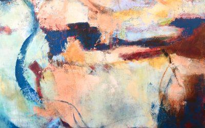 """Undertow"" ©Ruth Armitage, 2016, Oil & Wax on Panel, 36x36"""