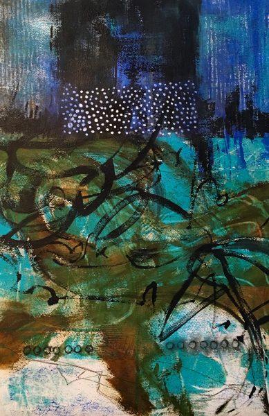 "22x15"" Acrylic on Paper, Ruth Armitage, ©2016"