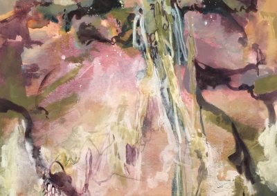 """""""Mist and Moss"""" Watermedia on Paper, 30x22"""""""