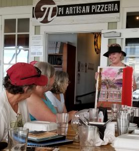 Final lunch at Pi Artisans Pizzeria, beautiful work in progress by Kim E. Smith
