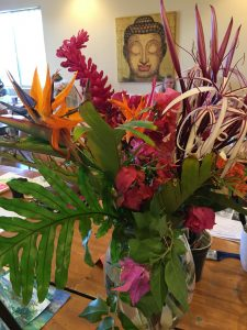 Tropical flowers to paint from the garden
