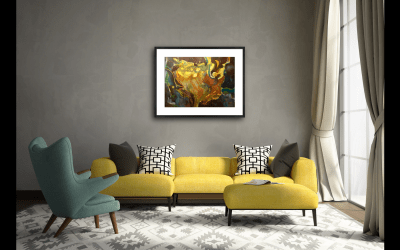 Bring Spring Inside with an Abstracted Floral