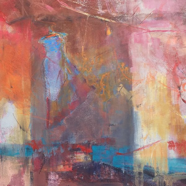 """Attic"" Mixed Media on Paper 22""x22"" ©Ruth Armitage"