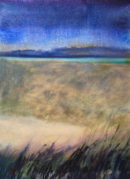 """Evening Vista"" Mixed Media on Paper 15""x20"" ©Ruth Armitage"