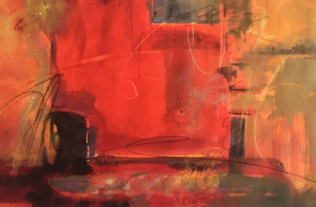 """""""Thresher"""" Mixed Media on Paper 15""""x22"""" ©Ruth Armitage"""