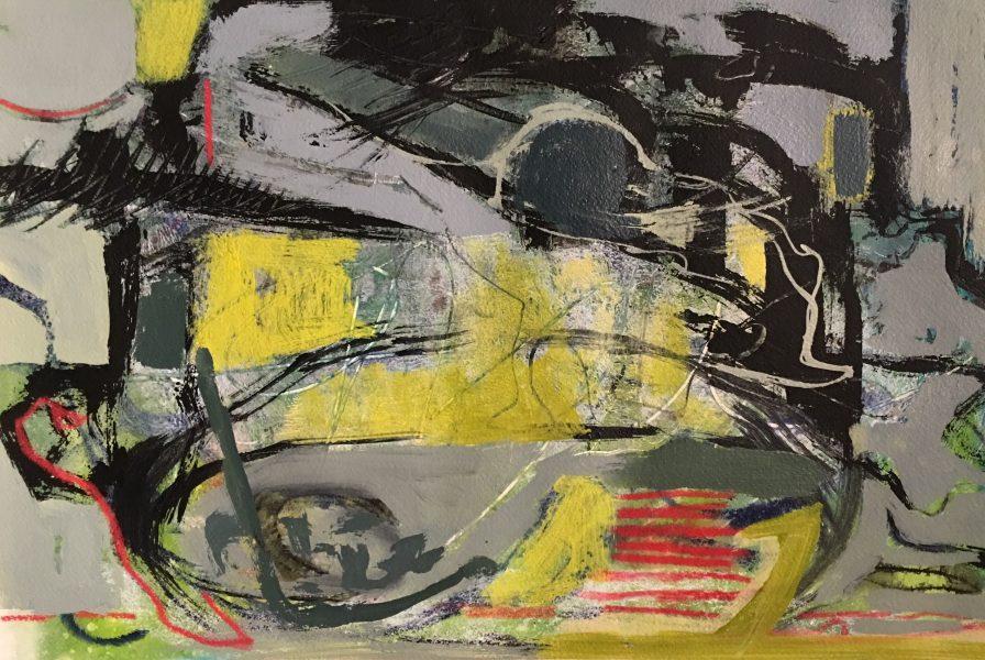 """Sediment"" ©Ruth Armitage Acrylic on paper 21""x14"""