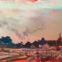 """""""Smoky Sky"""" ©Ruth Armitage, Mixed Media 10""""x11"""""""