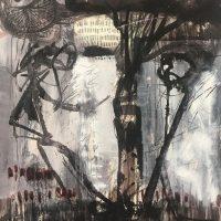 """Under the Walnut Tree"" Mixed Media on Paper, 15""x11"" $395"
