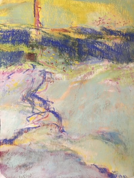 """Watercourse"" pastel ©Ruth Armitage 15""x11"""