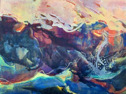 Mule Creek Canyon Watercolor